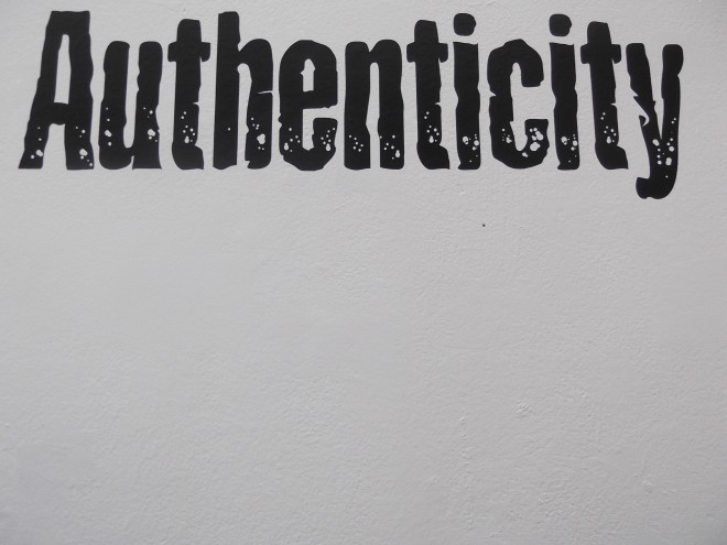 Authenticity. Image Credit: themostinept on Flickr.