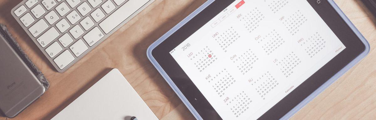 Digital calendar, keyboard, and notepad for planning