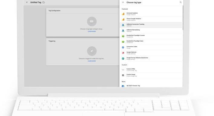 Google Tag Manager User Interface - credit: Google